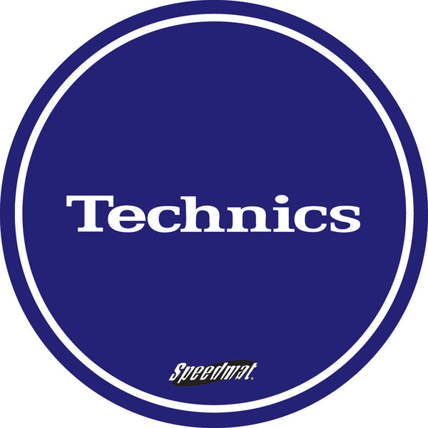 Technics Speed Slipmat In Blue (x2)