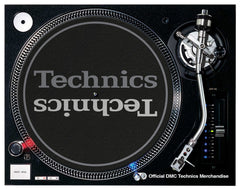 Technics Ltd Edition Slipmats (pair)- dark grey/pale grey print