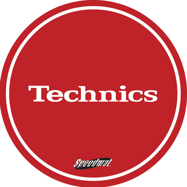 Technics Speed Slipmat In Red (x2)