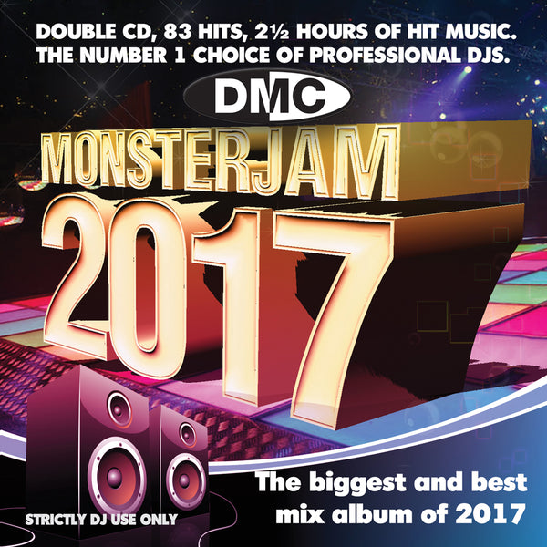 DMC Monsterjam 2017 double CD. DMC's biggest and most anticipated mix release of the year.