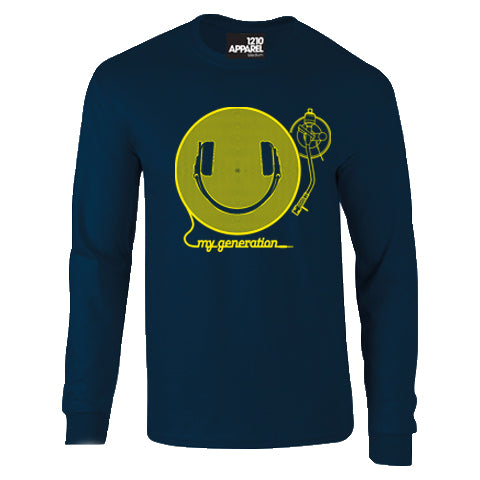 HAPPY GENERATION Long sleeved navy T-Shirt