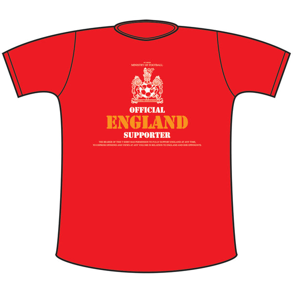 Official England Supporter Classic T. Shirt