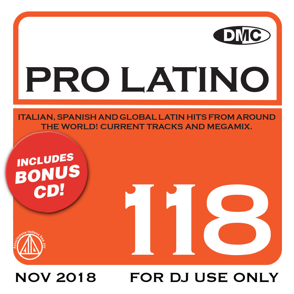 Check Out DMC PRO LATINO 118 - November 2018 release On The DMC Store