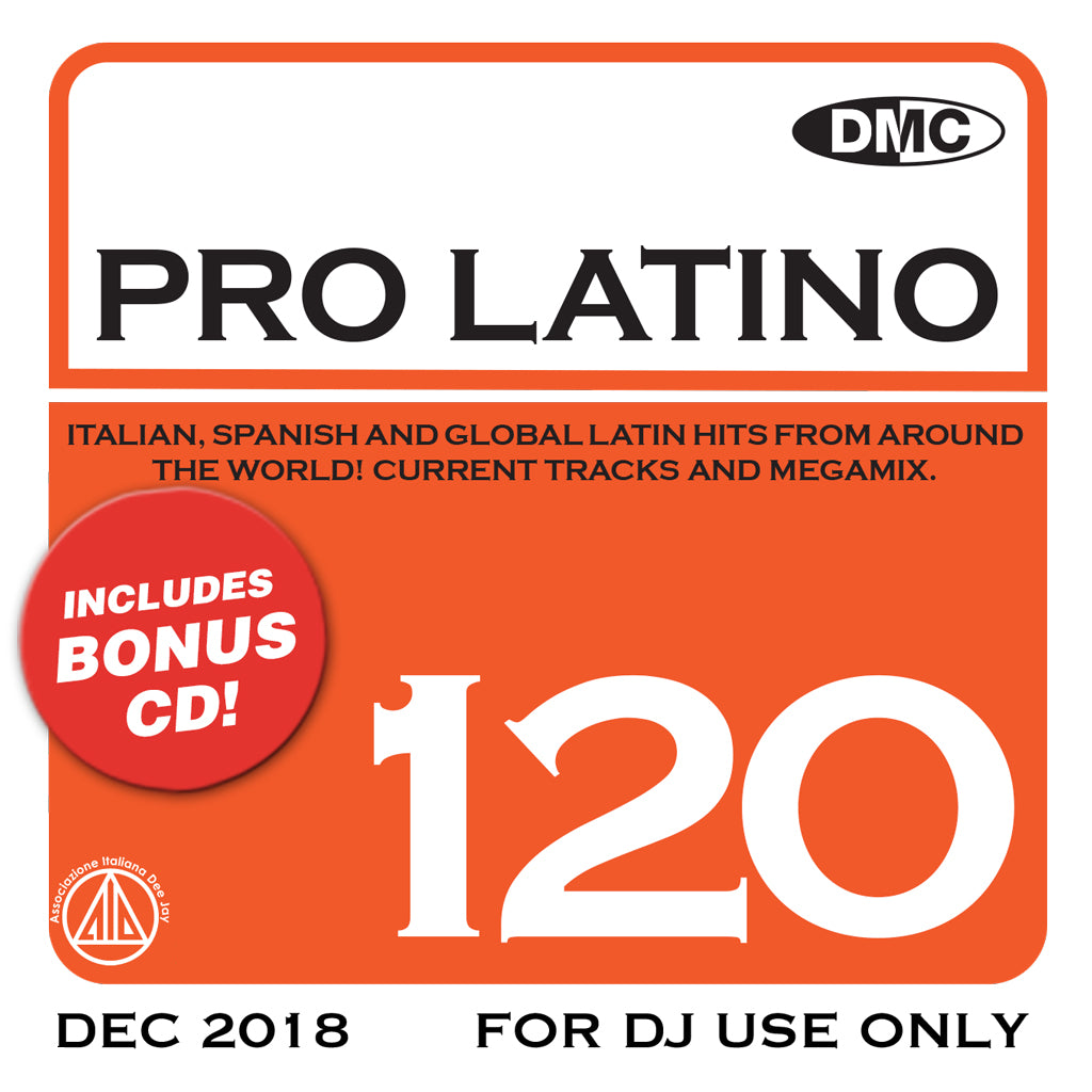 Check Out DMC PRO LATINO 120 - Italian, Spanish and Global Latin Hits from around the world - released Feb 2019 On The DMC Store