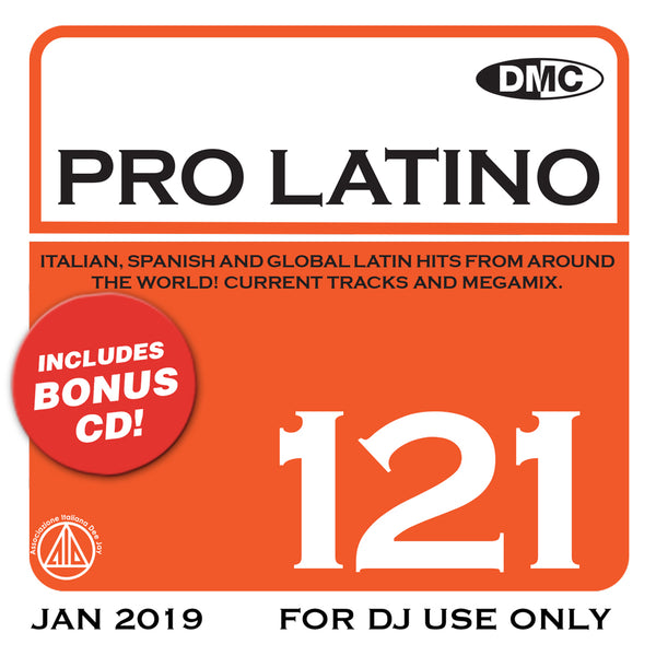 DMC PRO LATINO 121 - Italian, Spanish and Global Latin Hits from around the world - new release