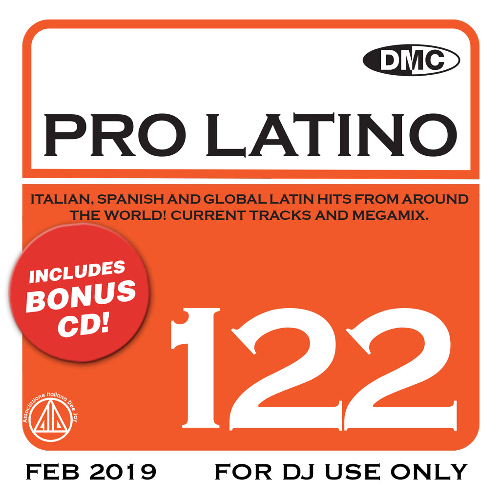 Check Out DMC PRO LATINO 122  ITALIAN, SPANISH AND GLOBAL LATIN HITS FROM AROUND THE WORLD!  - new release On The DMC Store