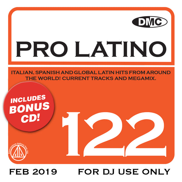 DMC PRO LATINO 122  ITALIAN, SPANISH AND GLOBAL LATIN HITS FROM AROUND THE WORLD!  - new release