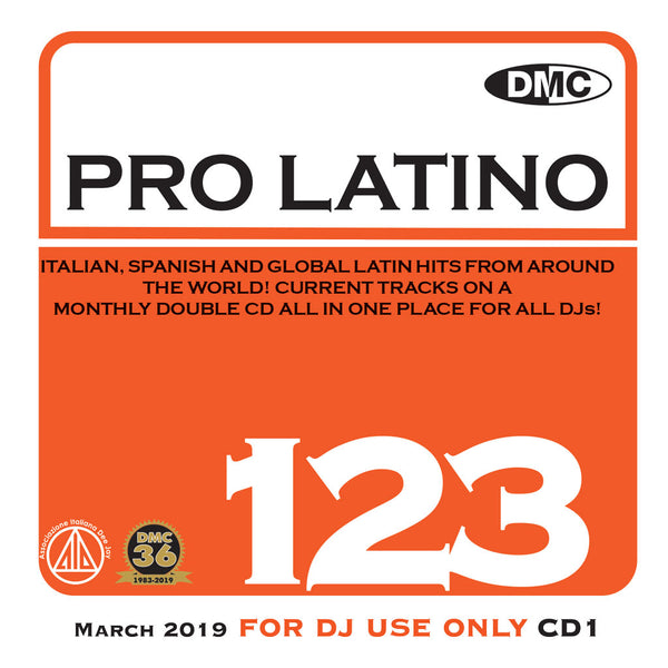 PRO LATINO 123  ITALIAN, SPANISH AND GLOBAL LATIN HITS FROM AROUND THE WORLD