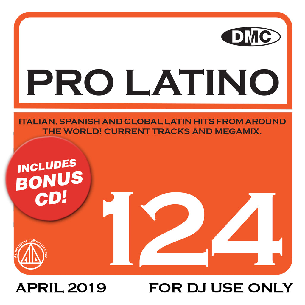 Check Out PRO LATINO 124  ITALIAN, SPANISH AND GLOBAL LATIN HITS FROM AROUND THE WORLD! On The DMC Store
