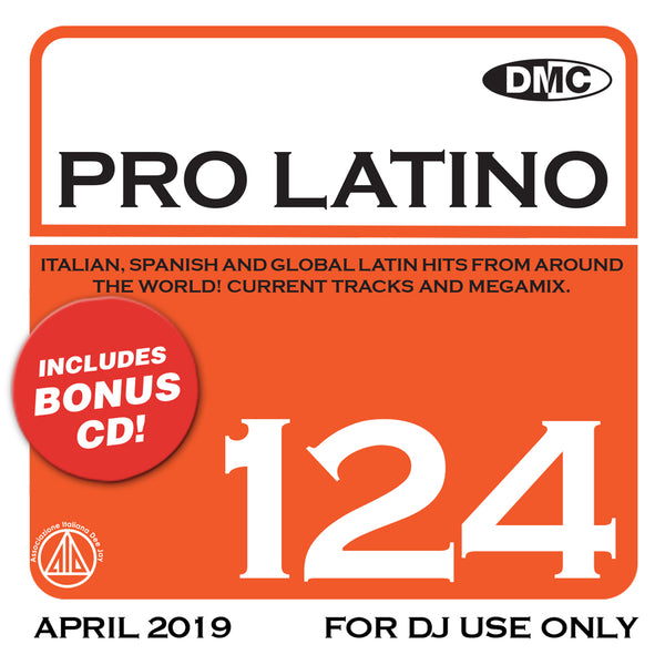 PRO LATINO 124  ITALIAN, SPANISH AND GLOBAL LATIN HITS FROM AROUND THE WORLD!