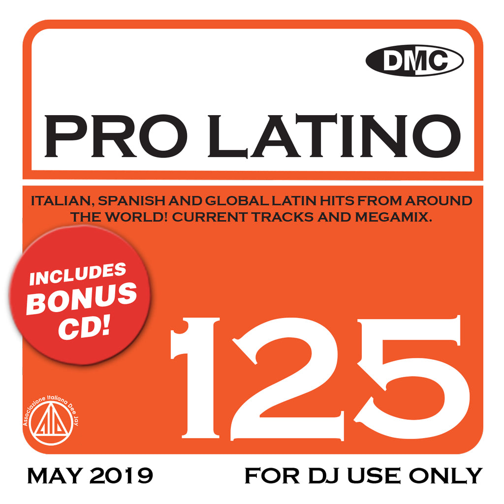 Check Out PRO LATINO 125  ITALIAN, SPANISH AND GLOBAL LATIN HITS FROM AROUND THE WORLD - new release On The DMC Store