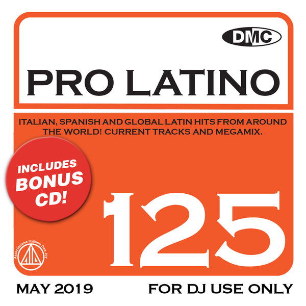 PRO LATINO 125  ITALIAN, SPANISH AND GLOBAL LATIN HITS FROM AROUND THE WORLD - new release
