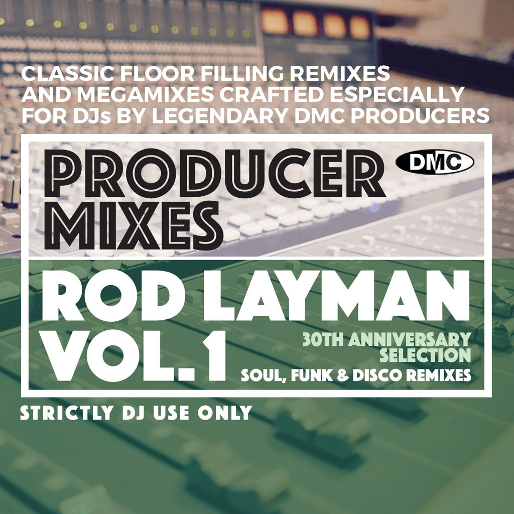 Check Out DMC PRODUCER MIXES Rod Layman Volume 1 - June 2021 release On The DMC Store