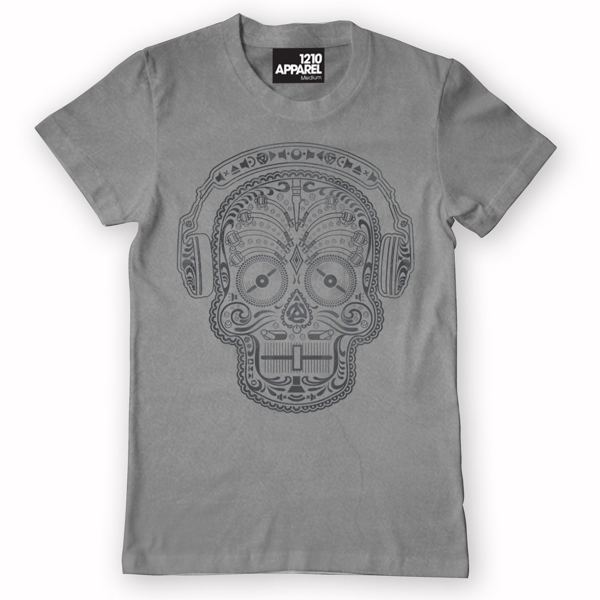 Check Out Skull & Phones DJ T-shirt in Grey On The DMC Store