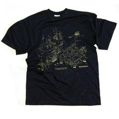 Technics Timeless T-shirt  -  available in black or grey