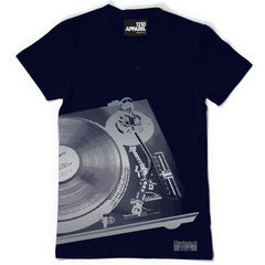 Technics Halftone Deck T. Shirt - Black