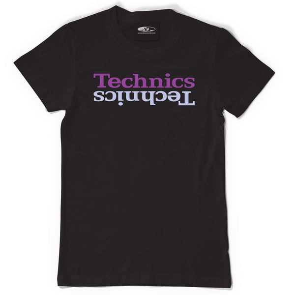 Technics Limited T. Shirt - Black t.shirt purple print