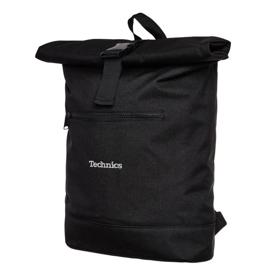 "Technics Roll Top Backpack (vinyl/laptop) - Holds up to 30 x 12"" Vinyl Records (25 with laptop)"