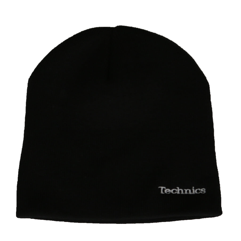 Official Technics Black Beanie Hat With Embroidered Technics Logo
