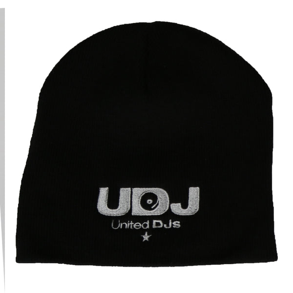 United DJs Black Beanie Hat With Embroidered UDJ Logo