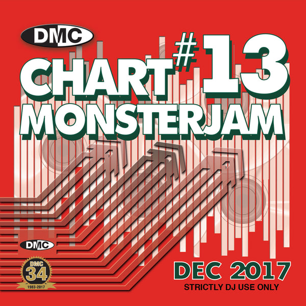 DMC Chart Monsterjam 13  - A dj friendly mix of chart hits from warm up to floorfillers - December 2017
