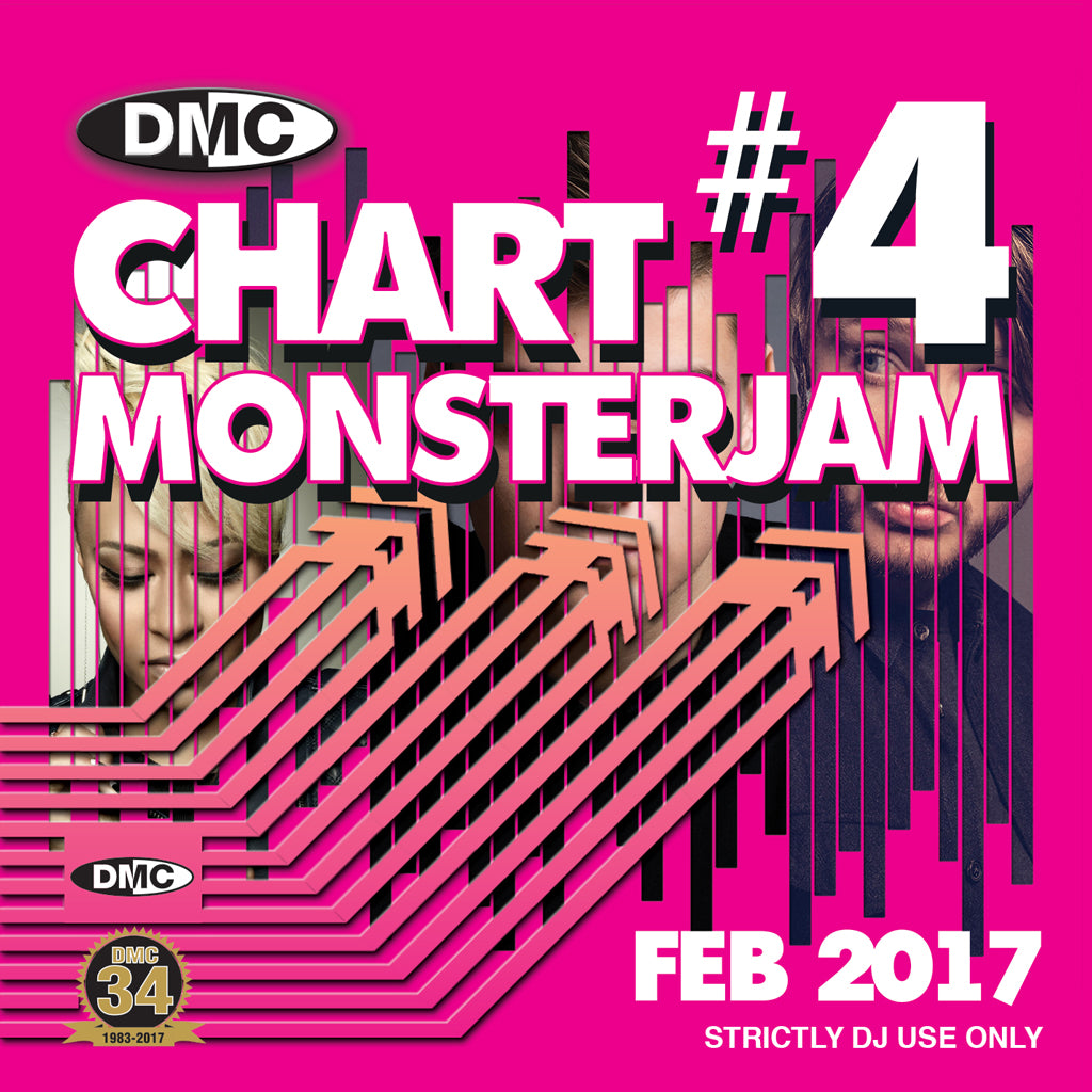 DMC CHARTS MONSTERJAM #4 -  A dj friendly mix of chart hits to warm up and fill the dancefloor. - End February 2017 Release