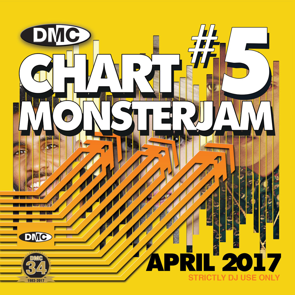 DMC CHARTS MONSTERJAM #5 -  A dj friendly mix of chart hits to warm up and fill the dancefloor. - April 2017 Release