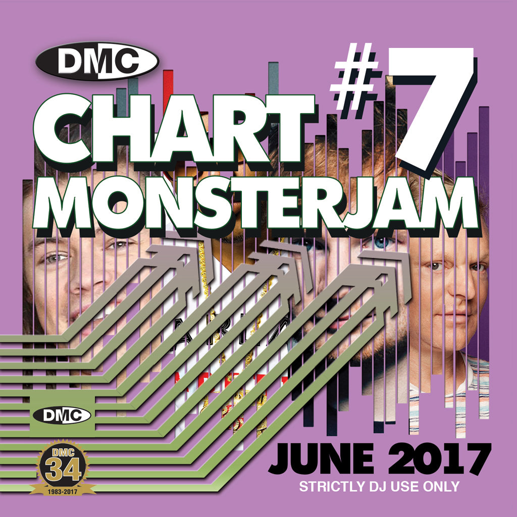 DMC CHART MONSTERJAM #7 -  A dj friendly mix of chart hits to warm up and fill the dancefloor. - June 2017 Release