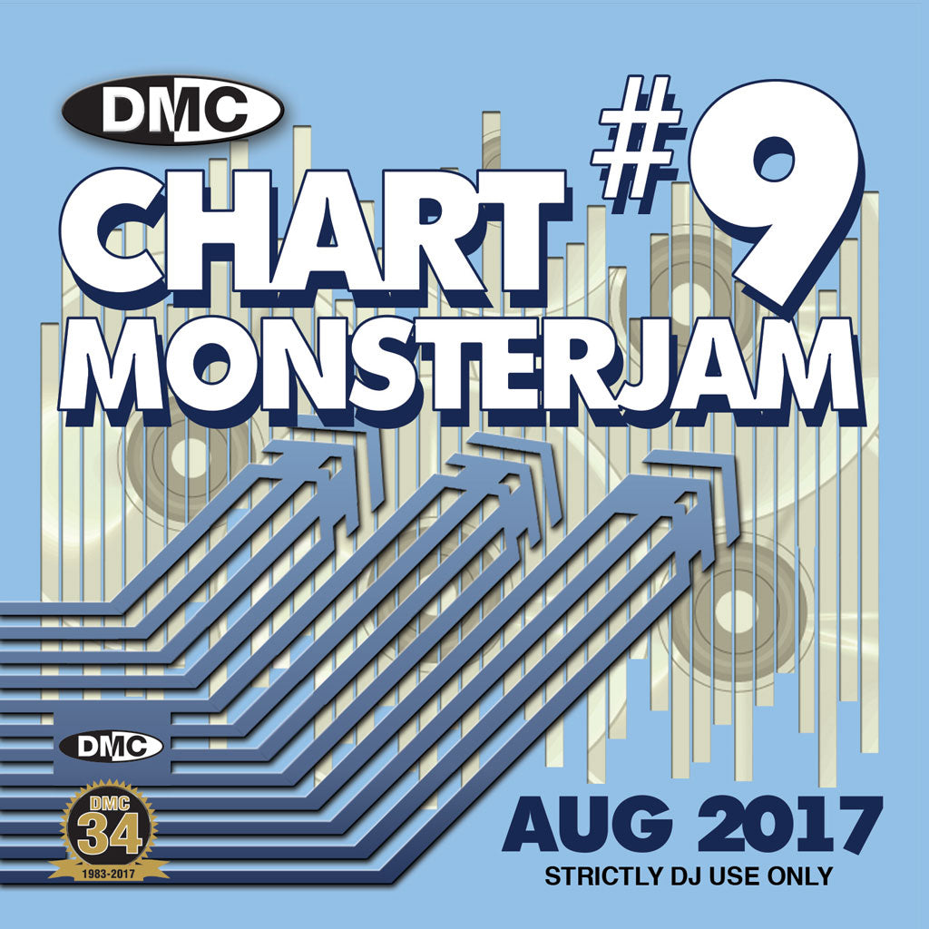 DMC CHART MONSTERJAM #9  - July 2017 release - A dj friendly mix of chart hits from warm up to floorfillers.