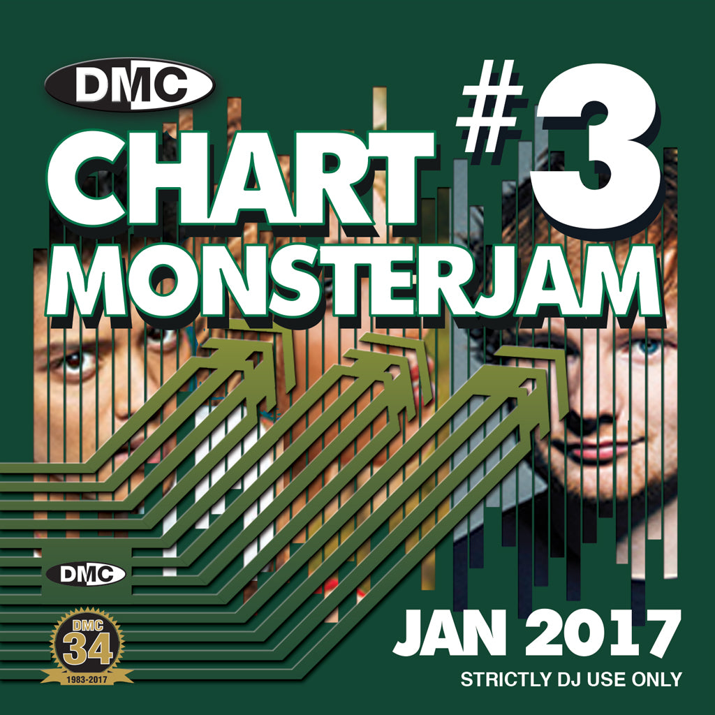 DMC CHARTS MONSTERJAM #3 -  A dj friendly mix of chart hits to warm up and fill the dancefloor. - End January 2017 Release
