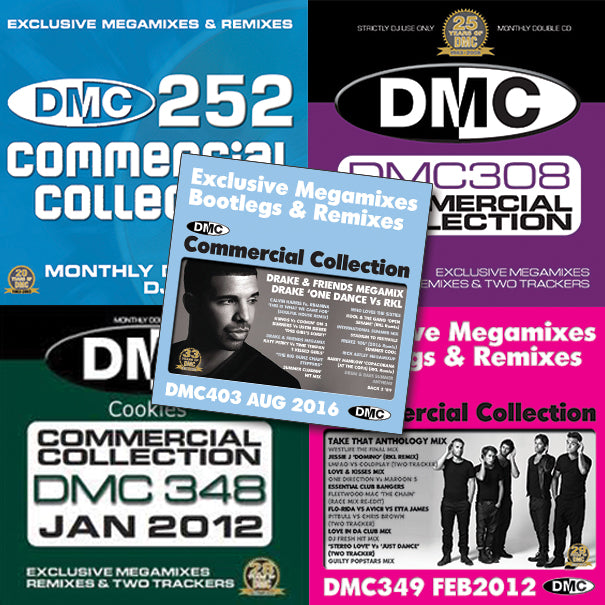 DMC COMMERCIAL COLLECTION OFFER 52 - Five issues featuring exclusive Megamixes, Bootlegs & Remixes - 80% off original price.