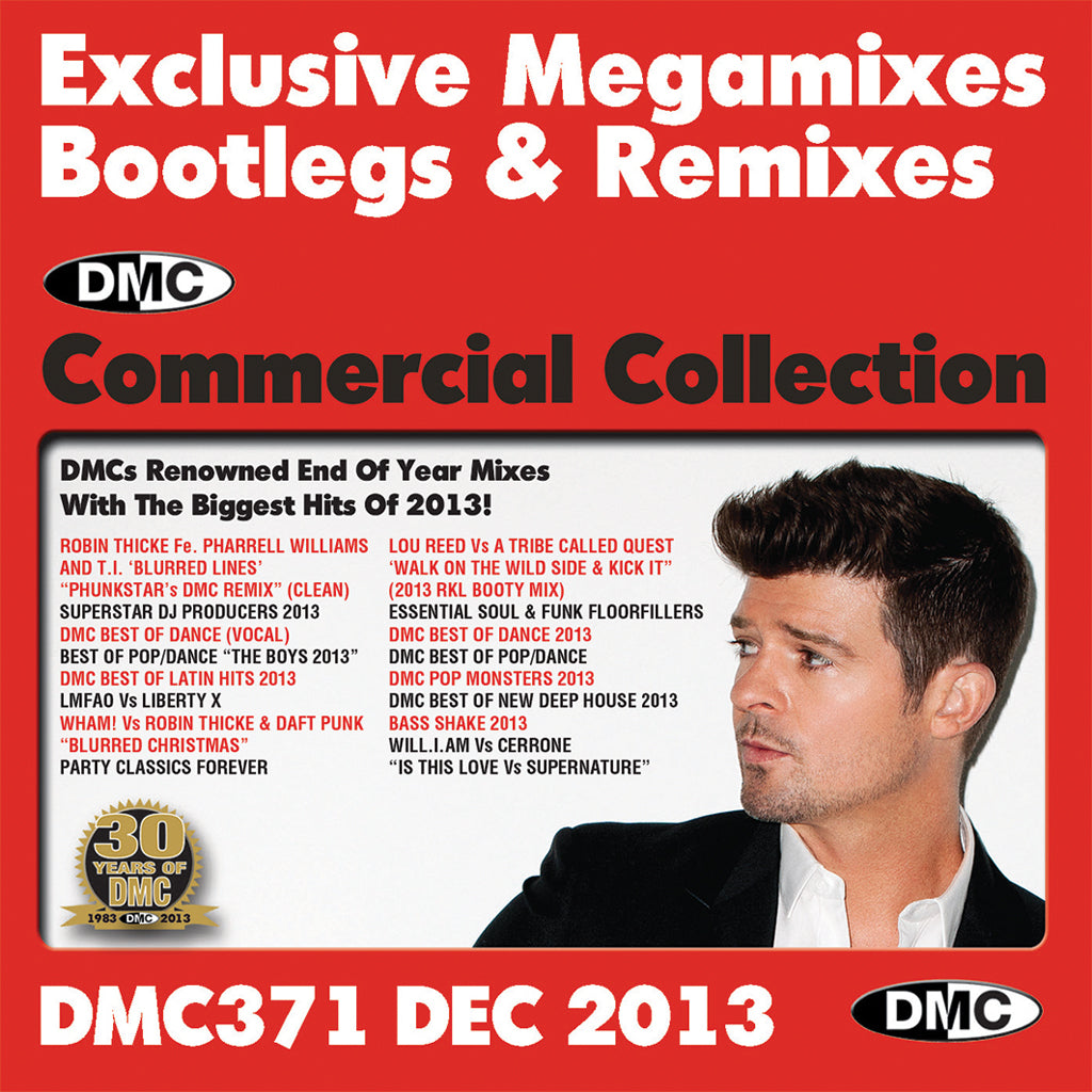 DMC COMMERCIAL COLLECTION 371 - NEW RELEASE- Best of the Year Mixes, Bootimixes and Remixes