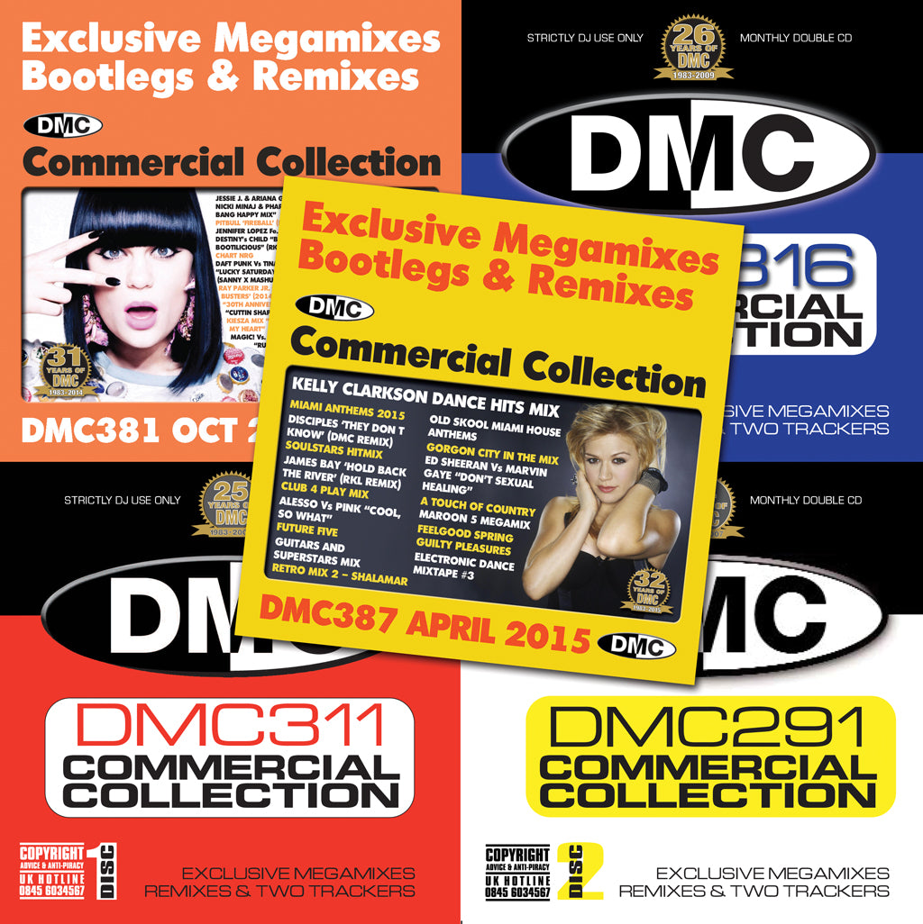 DMC COMMERCIAL COLLECTION OFFER  49 -  Ten CDs of exclusive megamixes bootlegs and remixes all for -
