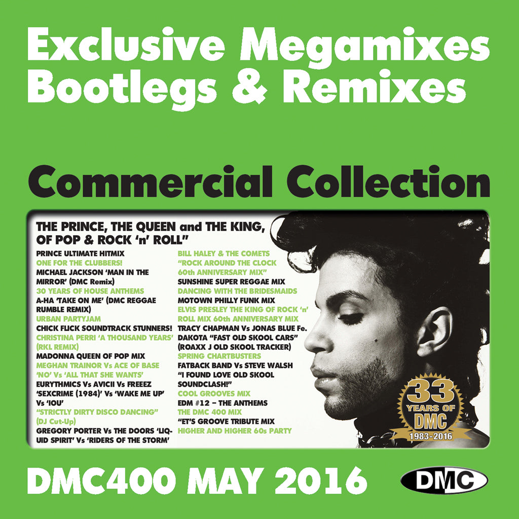 DMC COMMERCIAL COLLECTION 400 (3 x CD) - Special 400th Edition with bonus 3rd CD of Exclusive Megamixes, Remixes and Two Trackers - May 2016 Release
