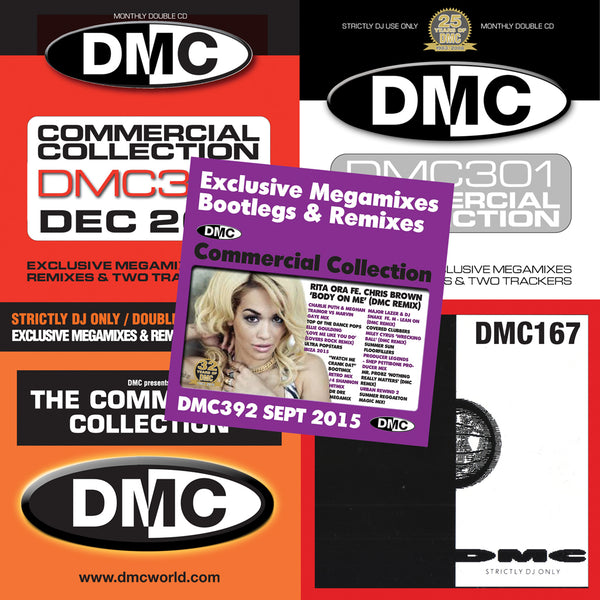 DMC COMMERCIAL COLLECTION OFFER 48 - 5 issues of classic megamixes, mixes, remixes and two trackers - 9 Cds in total all for -
