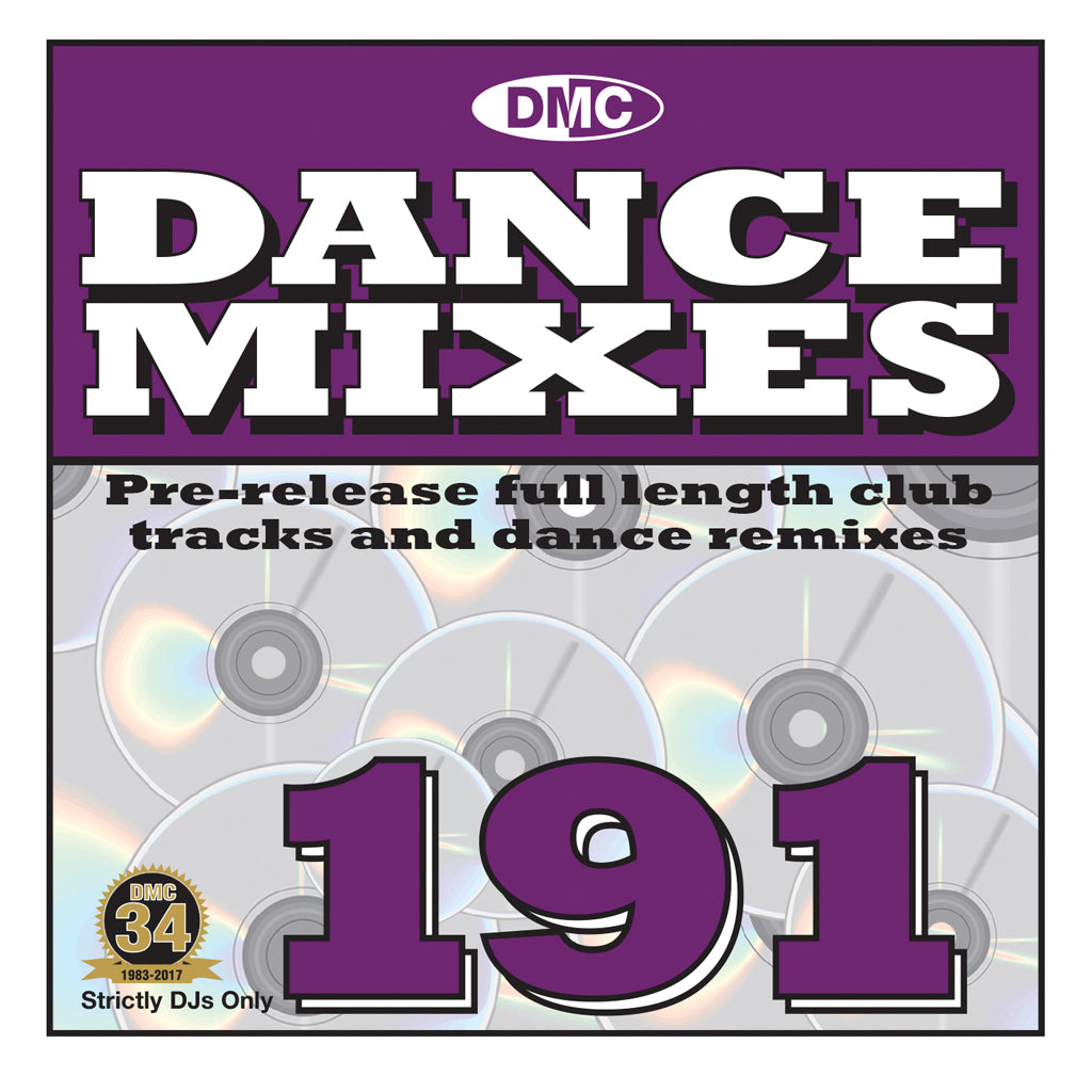 DMC DANCE MIXES 191 - Pre-release full length club tracks and dance remixes - September 2017 release