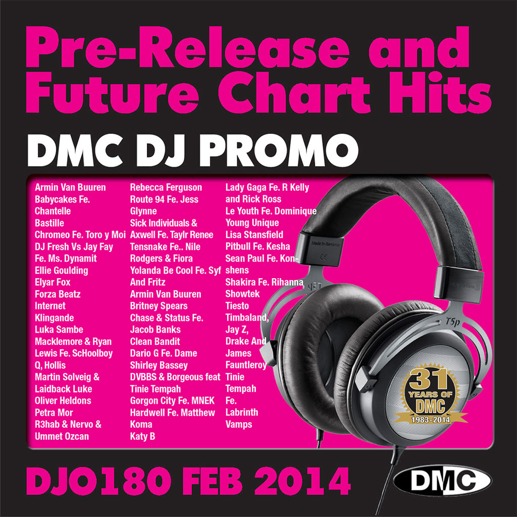 DJ Promo 180 - Pre - Release and Future Chart Hits - February 2014