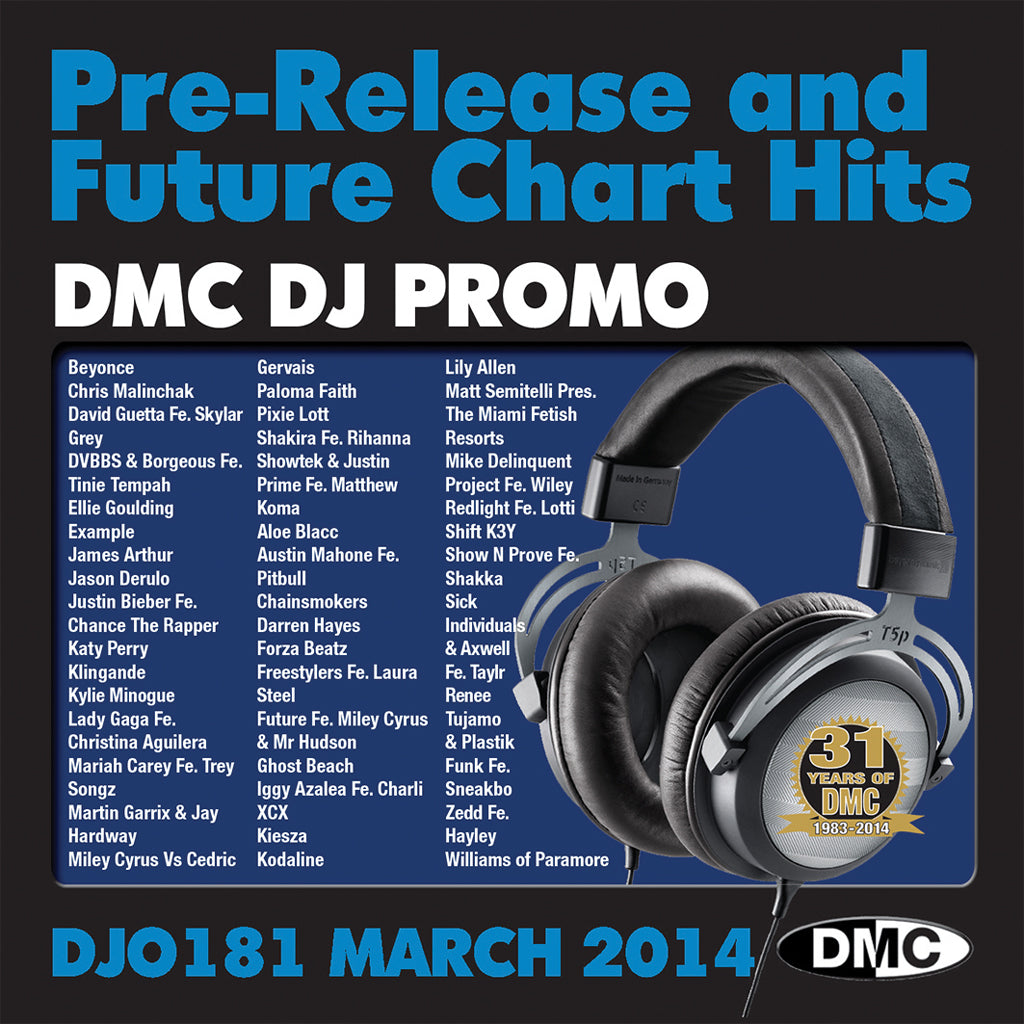 DMC DJ Promo 181 - Pre Releases and Future Chart Hits