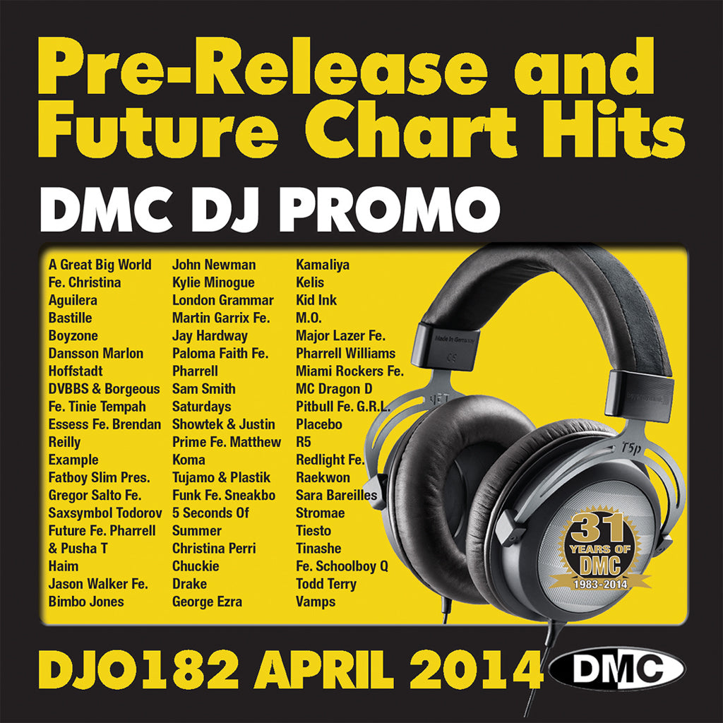 DMC DJ Promo 182 - April Issue of Pre- Release and Future Chart Hits
