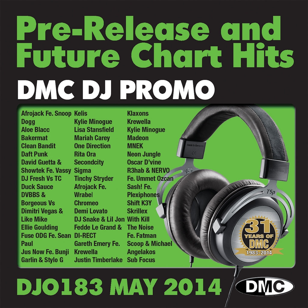 DMC DJ Promo 183 - Double CD - May issue of pre-releases and future chart hits - New Release
