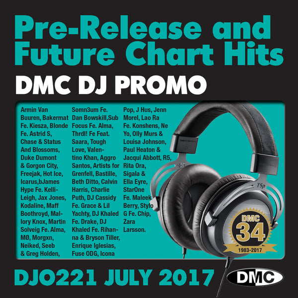 DMC DJ Promo 221 - DOUBLE CD of Pre-Releases and future Chart Hits -  July  2017 Release