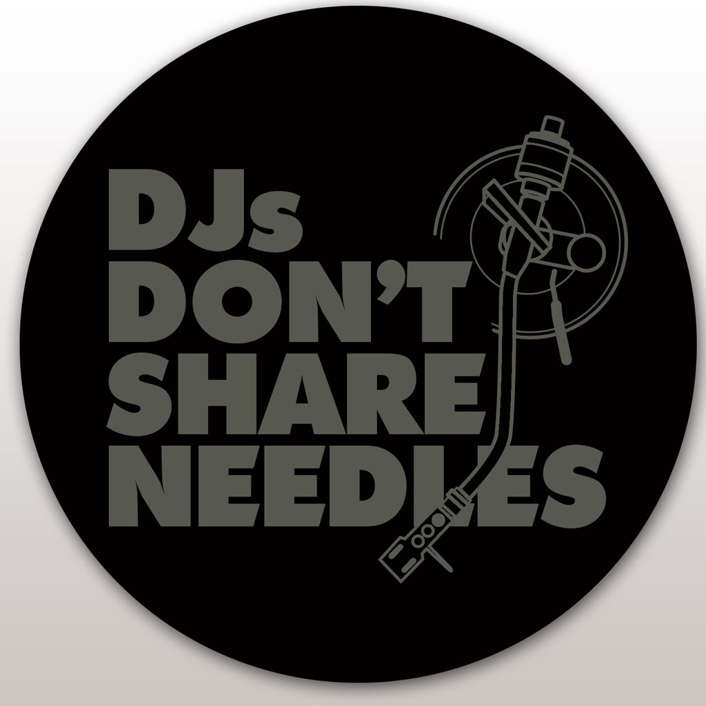 DMC DJs Don't Share Needles Slipmats (pair) - Black/Grey print