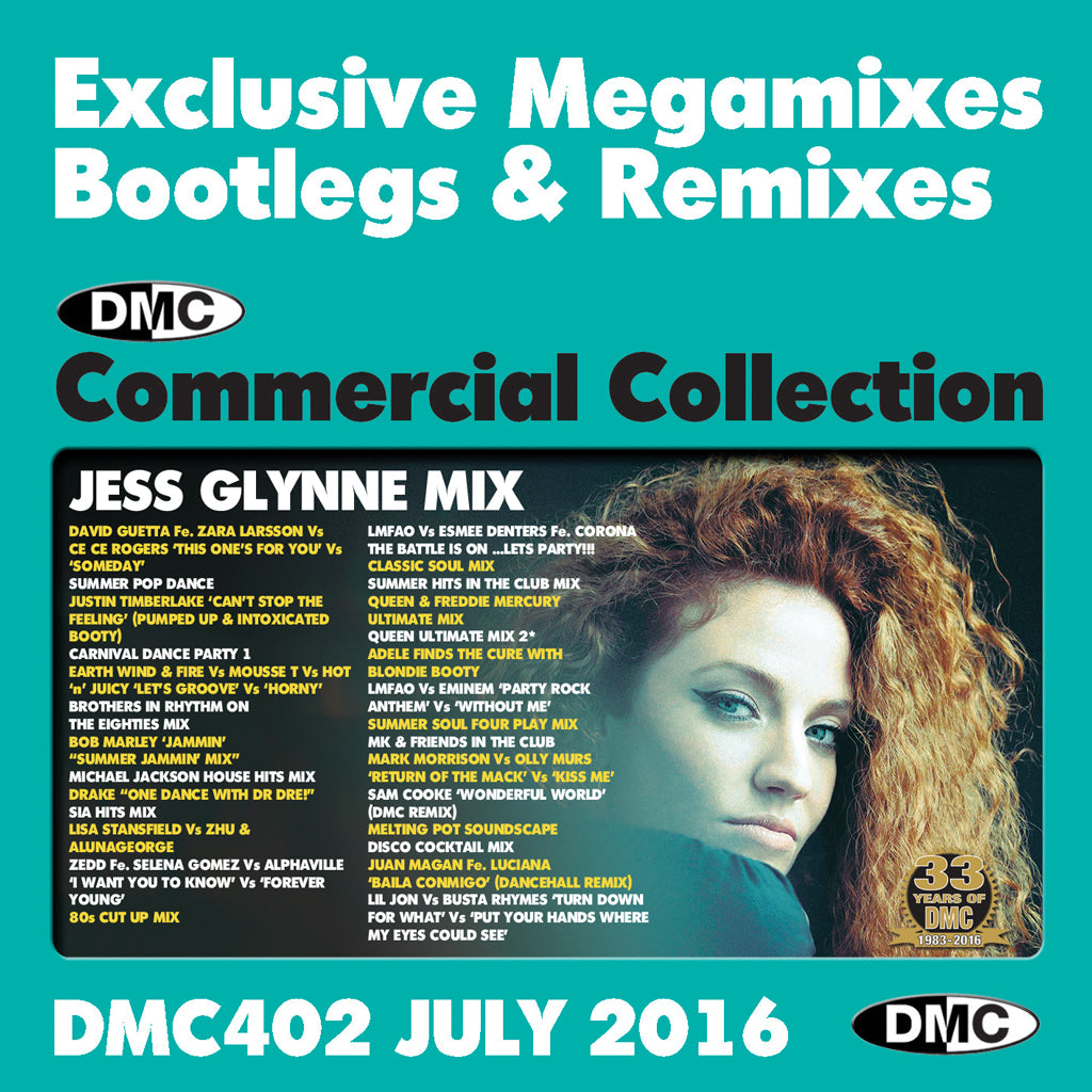 DMC COMMERCIAL COLLECTION 402 (BONUS CD - SPECIAL TRIPLE PACK) - July 2016  Release - EXCLUSIVE    MEGAMIXES REMIXES TWO TRACKERS