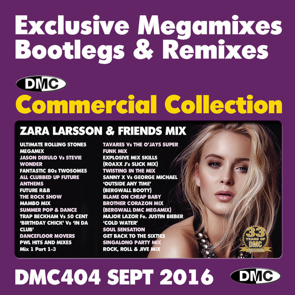 DMC COMMERCIAL COLLECTION 404 - September 2016 Release -  TRIPLE PACK  _ Exclusive... Megamixes Remixes Two Trackers