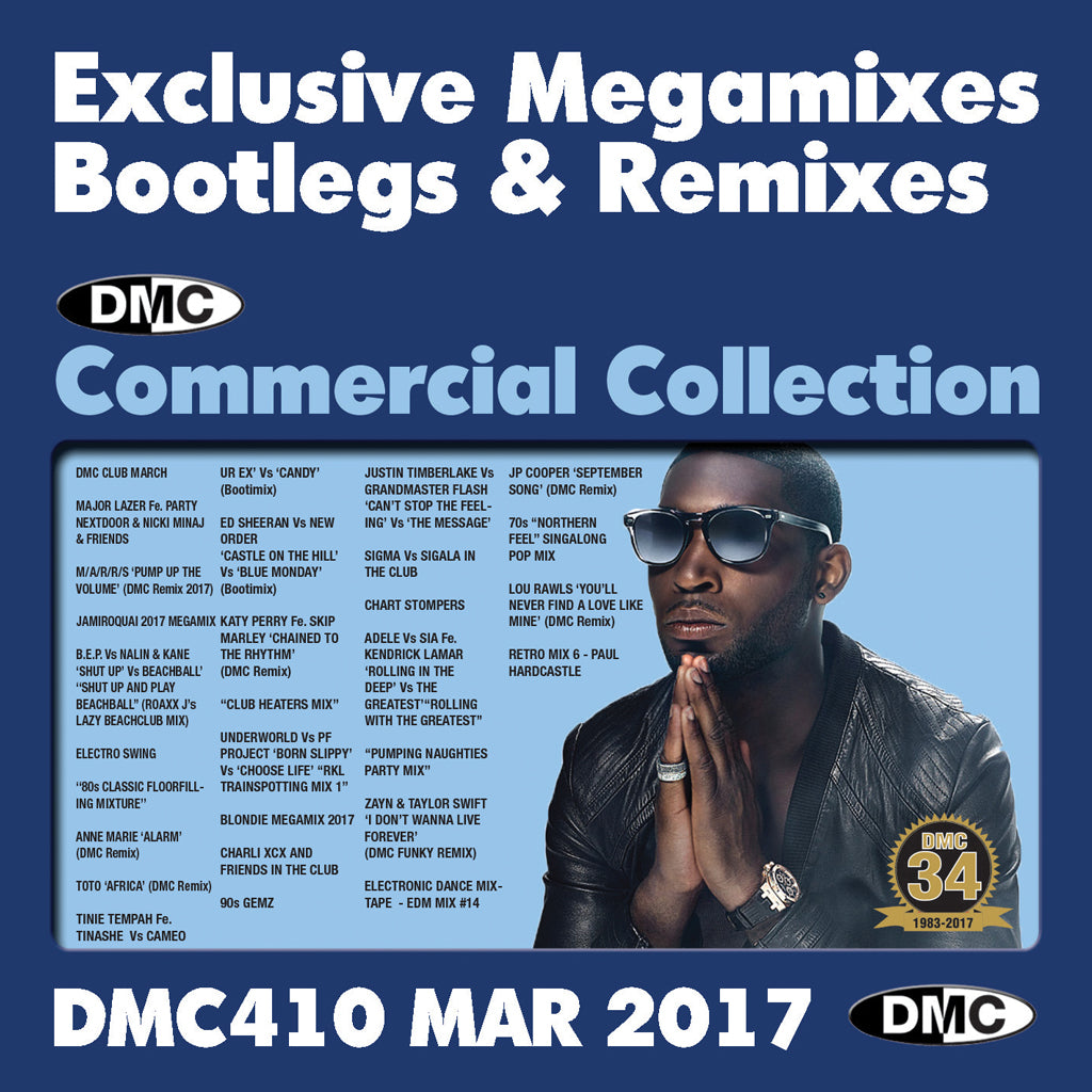 COMMERCIAL COLLECTION 410 –  special triple cd edition EXCLUSIVE... MEGAMIXES REMIXES TWO TRACKERS - March 2017 release