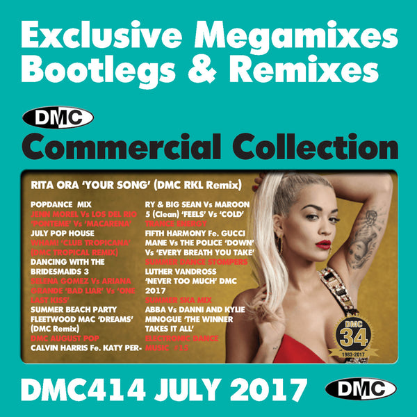 DMC Commercial Collection 414  - July 2017 Release -  Exclusive... Megamixes Remixes Two Trackers