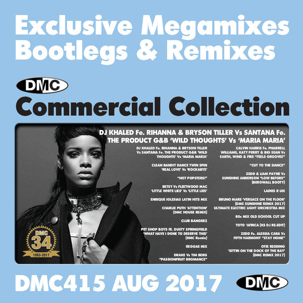 DMC Commercial Collection 415  - August 2017 Release -  Exclusive... Megamixes Remixes Two Trackers