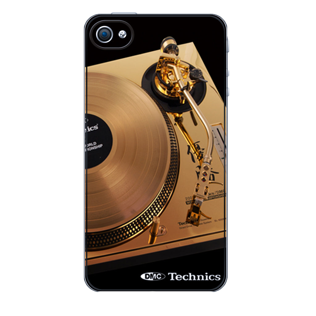 Iconic DMC/Technics Gold Turntable iphone 5 Cover
