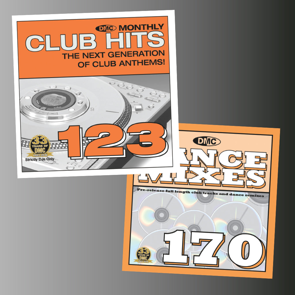 DMC Dance Mixes 170 and Club 123 - buy both and save 20%