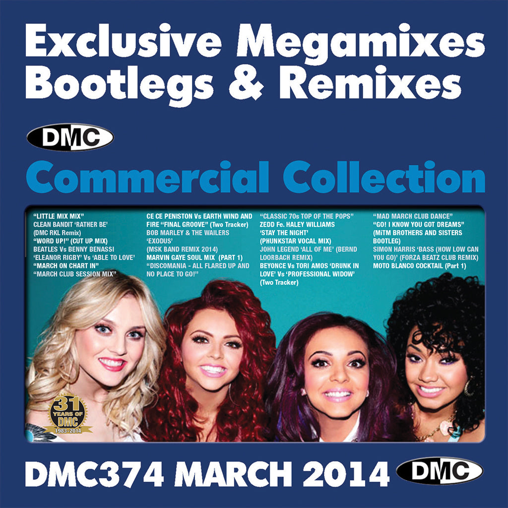 DMC Commercial Collection 374 - EXCLUSIVE    MIXES REMIXES TWO TRACKERS
